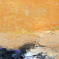 Untitled Abstract - Amber Peach  With Violet by Kathleen Grace