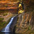 Upper Falls Of Hocking River by Brian Mollenkopf