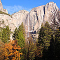Upper Yosemite Falls In Autumn by Heidi Smith