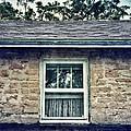 Upstairs Window In Stone House by Jill Battaglia