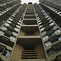Upward View Of A Public Housing by Justin Guariglia