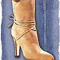 Urban Cowgirl Suede Boots by Elaine Plesser