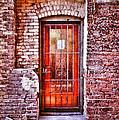 Urban Door In Old Brick Building by Jill Battaglia