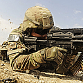 U.s. Air Force Soldier Fires The Mk48 by Stocktrek Images