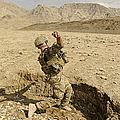 U.s. Air Force Soldier Throws A Frag by Stocktrek Images