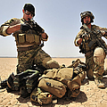 U.s. Air Force Soldiers Gather by Stocktrek Images