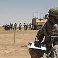 U.s. Army Radio Operator Communicates by Stocktrek Images