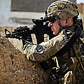 U.s. Army Sergeant Pulls Security While by Stocktrek Images