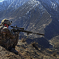 U.s. Army Sniper Provides Security by Stocktrek Images