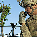 U.s. Army Soldier Calls For Indirect by Stocktrek Images