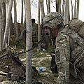U.s. Army Soldier Communicates Possible by Stocktrek Images