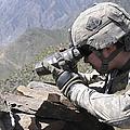 U.s. Army Soldier Monitors An Afghan by Stocktrek Images