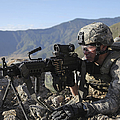U.s. Army Soldier Provides Overwatch by Stocktrek Images