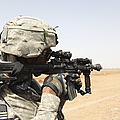 U.s. Army Soldier Scans The Horizon by Stocktrek Images