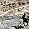 U.s. Army Soldiers And Afghan Border by Stocktrek Images