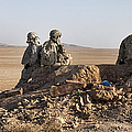 U.s. Army Soldiers At A Checkpoint by Stocktrek Images