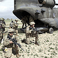 U.s. Army Soldiers Board A Ch-47 by Stocktrek Images