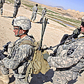 U.s. Army Soldiers Call In An Update by Stocktrek Images