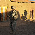 U.s. Army Soldiers Conduct A Dismounted by Stocktrek Images
