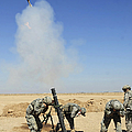 U.s. Army Soldiers Firing An M120 120mm by Stocktrek Images