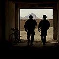 U.s. Army Soldiers Patrol A Village by Stocktrek Images