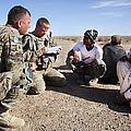 U.s. Army Soldiers Speak With Elders by Stocktrek Images