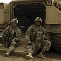 U.s. Army Soldiers Waiting At Patrol by Stocktrek Images