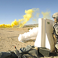 U.s. Army Specialist Calls In For An by Stocktrek Images