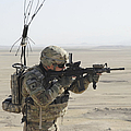 U.s. Army Specialist Scans His Area by Stocktrek Images