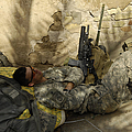 U.s. Army Specialist Takes A Nap by Stocktrek Images