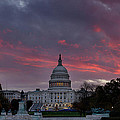 Us Capitol - Pink Sky Getting Ready by Metro DC Photography