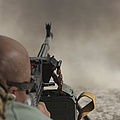 U.s. Contractor Firing The Pkm 7.62 by Terry Moore