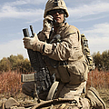 U.s. Marine Communicates by Stocktrek Images