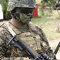 U.s. Marine Communicates Via Radio by Stocktrek Images