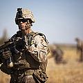 U.s. Marine During A Security Patrol by Stocktrek Images