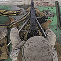 U.s. Marine Fires An M2 .50-caliber by Stocktrek Images
