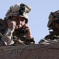 U.s. Marine Gives Directions To Units by Stocktrek Images