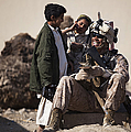 U.s. Marine Practices Pashto by Stocktrek Images