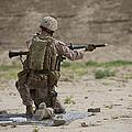 U.s. Marine Prepares A Fragmentation by Terry Moore