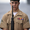 U.s. Marine Presents Arms During An by Stocktrek Images