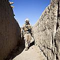 U.s. Marine Sweeps An Alleyway by Stocktrek Images