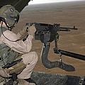 U.s. Marine Test Firing An M240 Heavy by Stocktrek Images