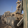 U.s. Marine Uses A Logistics Vehicle by Stocktrek Images