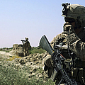 U.s. Marine Uses A Radio by Stocktrek Images
