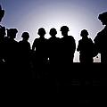 U.s. Marines And Civilian Contractors by Stocktrek Images
