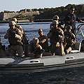 U.s. Marines Approach A Suspect Vessel by Stocktrek Images