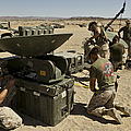 U.s. Marines Assemble A Satellite Dish by Stocktrek Images