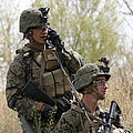 U.s. Marines Communicate by Stocktrek Images