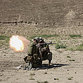 U.s. Marines Fire A Rocket-propelled by Terry Moore