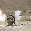 U.s. Marines Fire A Rpg-7 Grenade by Terry Moore